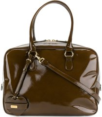 moschino pre-owned structured tote bag - brown