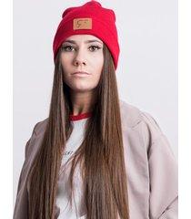 czapka czerwona beanie
