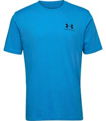 ua sportstyle lc ss t-shirts short-sleeved blå under armour