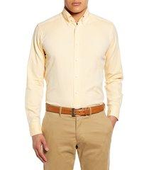 men's eton soft casual line slim fit oxford shirt, size 16.5 - yellow