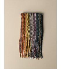 missoni scarf missoni multi-striped lurex scarf