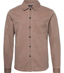 anf mens wovens skjorta casual brun abercrombie & fitch