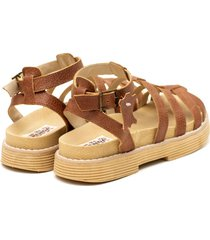 sandalia de cuero suela valentia calzados romi