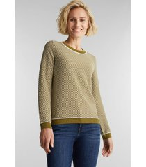 sweater mujer jacquard oliva esprit