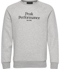 m orig c sweat-shirt trui grijs peak performance