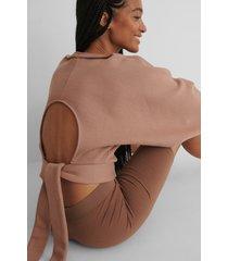 na-kd reborn ekologisk tröja med öppen rygg - pink