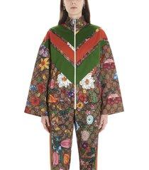 gucci gg supreme flora sweatshirt
