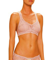 brasier tipo top lace jessie de la rosa lingerie para mujer - lavanda