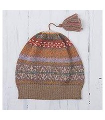 100% alpaca hat, 'inca earth' (peru)