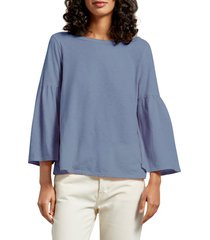 women's michael stars bell sleeve tee, size one size - blue