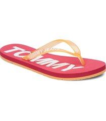 pop color beach sand shoes summer shoes flip flops rosa tommy hilfiger