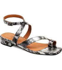 sandals 4026 shoes summer shoes flat sandals grå billi bi