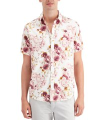 inc men's oversized floral-print shirt, created for macy's