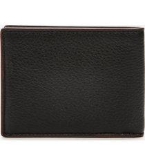 coach men's pebble leather slim bill wallet - black