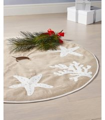 holiday lane starfish tree skirt, created for macy's