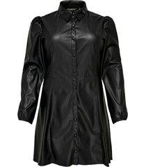 skjortklänning cardiddi ls faux leather dress