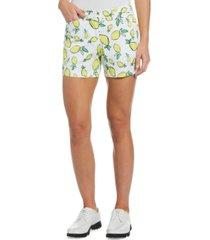 pga tour women's summer lemon golf shorts