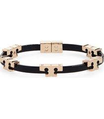 women's tory burch t-logo single wrap bracelet