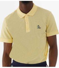 lacoste cotton petit piqué polo shirt - jaune ph425800-6x9