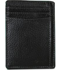 buxton men's money clip leather card case
