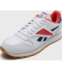 zapatilla cl leather mark blanco reebok