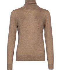 felina knit t-neck turtleneck polotröja beige second female