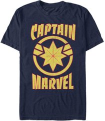 marvel men's captain marvel retro captain marvel emblem short sleeve t-shirt