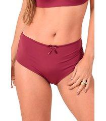 calcinha confort vip lingerie poliamida elástico invisível vinho