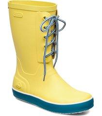 retro logg regnstövlar skor gul viking
