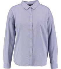 garcia zachte loose fit blouse blue ice langere achterzijde