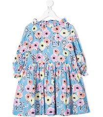 raspberry plum teen zsa zsa floral-print dress - blue