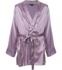 ann demeulemeester satin wrap jacket - purple