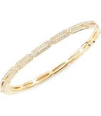 adriana orsini women's goldtone & crystal bangle bracelet