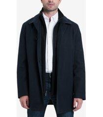 london fog men's bern long car coat with bib