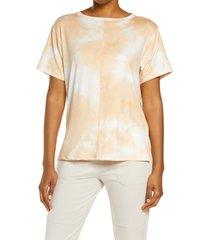 zella chromatic tie dye t-shirt, size medium in yellow autumn at nordstrom