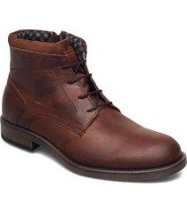 7749 snörade stövlar brun playboy footwear