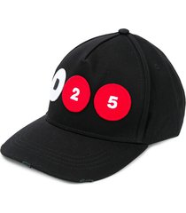 dsquared2 baseball cap in black cotton