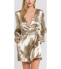 endless rose satin romper