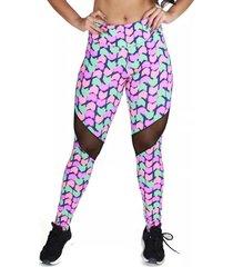calça legging estampada suplex bravaa modas 178 rosa