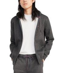 tommy hilfiger men's big & tall plains zip-up hoodie