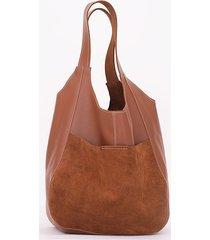 brązowa koniakowa miękka skórzana torba