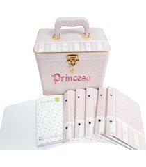 album de beb㪠10x15 princesa com maleta 600 fotos - branco - feminino - dafiti