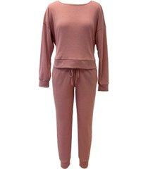 jenni waffle knit pajama set, created for macy's