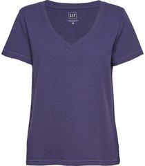 100% organic cotton vintage v-neck t-shirt t-shirts & tops short-sleeved lila gap