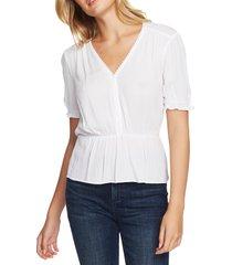 women's 1.state circle trim peplum blouse, size x-small - white