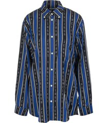 black and blue large fit shirt