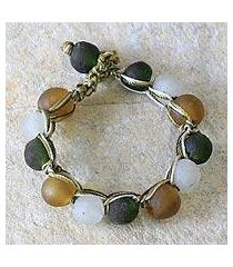 recycled bead bracelet, 'summer fields' (ghana)