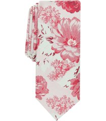 bar iii men's kenneth skinny floral tie, created for macy's