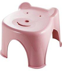 banquinho ursinho jacki design lifestyle rosa - rosa - feminino - dafiti