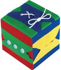 brinquedo educativo cubo de atividades 01 cubo com 06 atividades editora fundamental azul